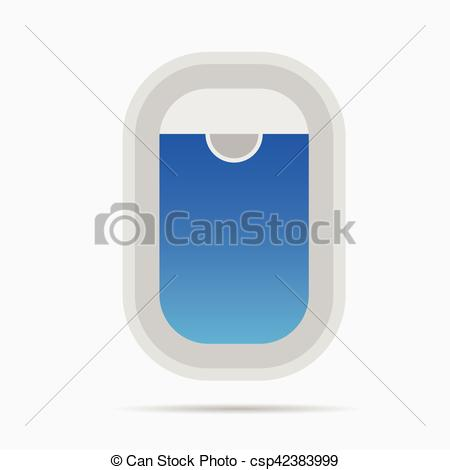 EPS Vectors of airplane window color design illustration on white.