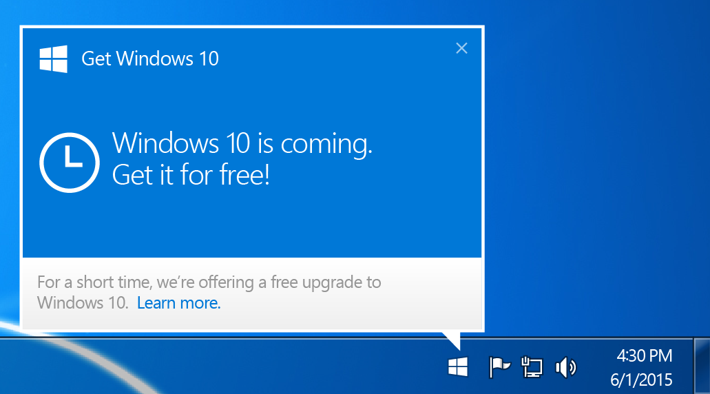 How to get rid of windows 10 upgrade clipart.