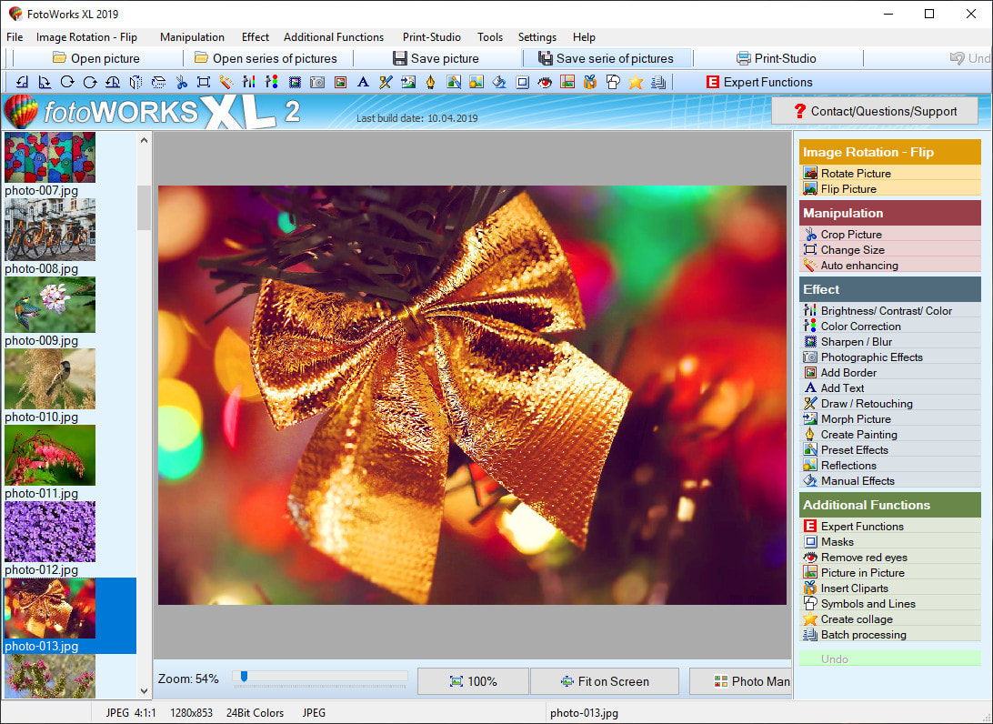 Photo editing software for Windows computer to edit a photo.