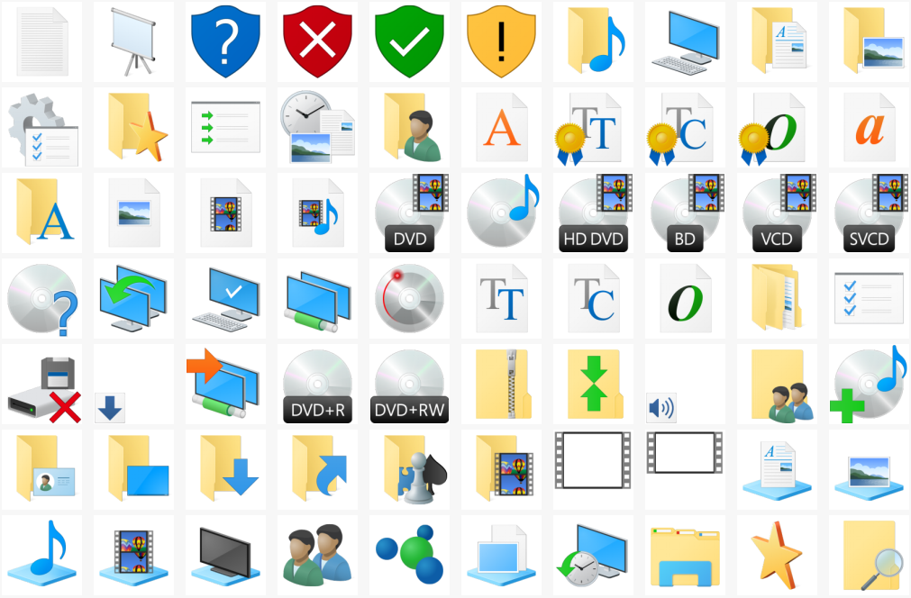 Download icons from Windows 10 build 10125.