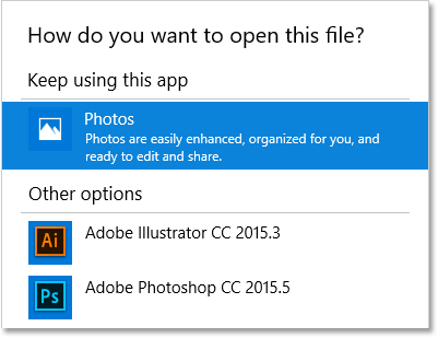 Make Photoshop Your Default Image Editor In Windows 10.