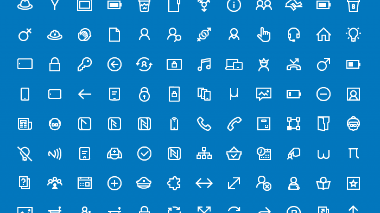 200 Free Icons for Windows 10 Apps.