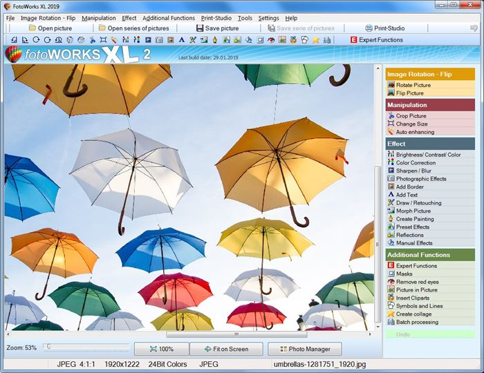 Photo Editing Software for Windows 10 PC and Image Editor.