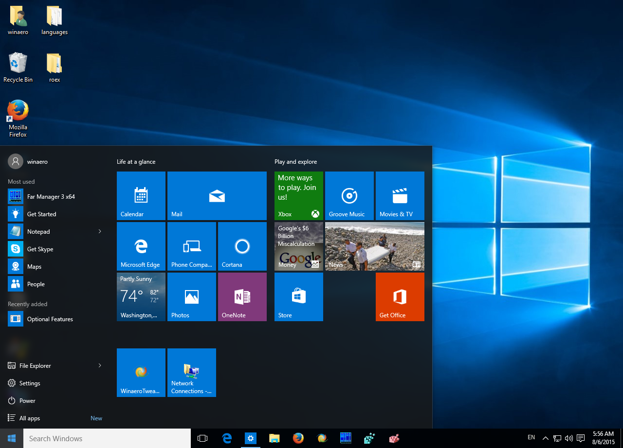 Speed up Start menu in Windows 10.