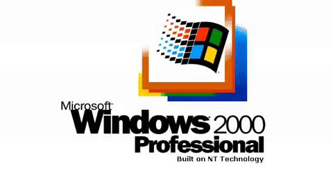 Font in Use: Windows 2000 Logo Font.