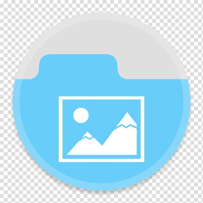 Button UI Custom Folders, blue and white logo folder.