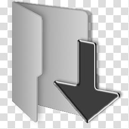 Windows Clean Gray Folders, grey folder icon transparent.