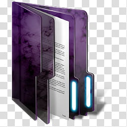 Purple Windows Folders, folder icon transparent background PNG.