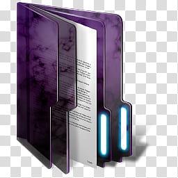 Purple Windows Folders, folder icon transparent background PNG.