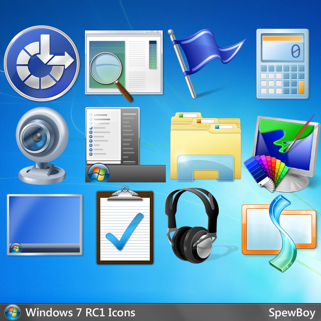 Windows 7 Official 256x256 Icons (PNG) by muckSponge on DeviantArt.