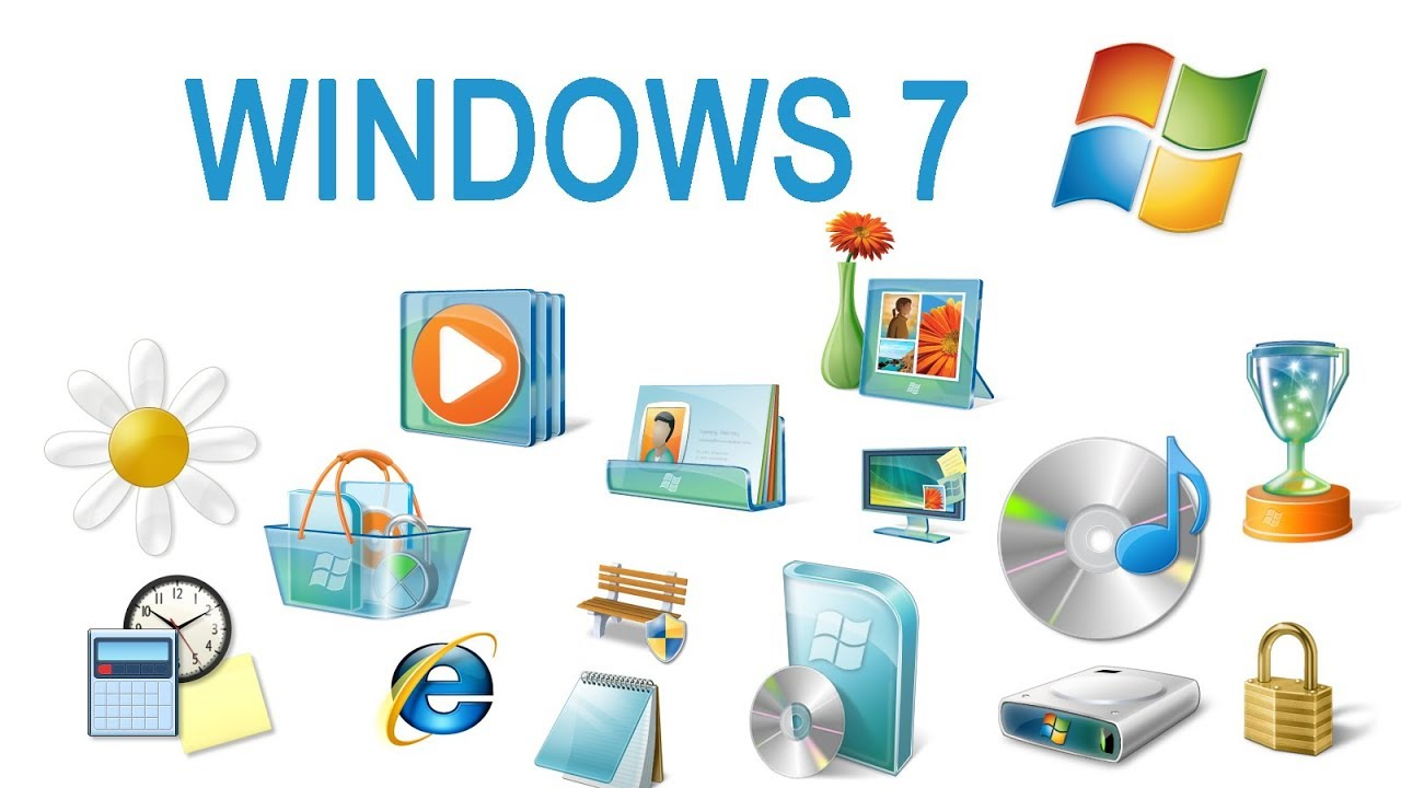 free Download Windows 7 original icons pack PNG Files 256X256.