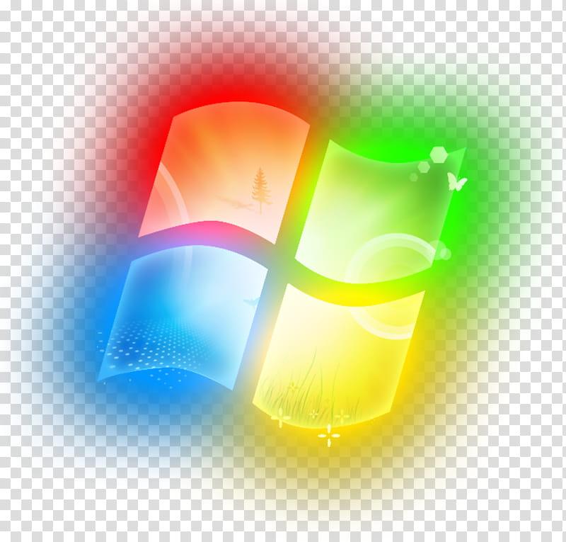 Windows Glowing Logo, colorful Windows logo transparent background.