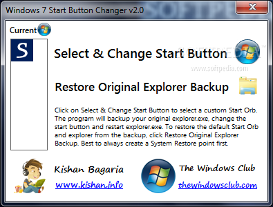 Download Windows 7 Start Button Changer 2.6.