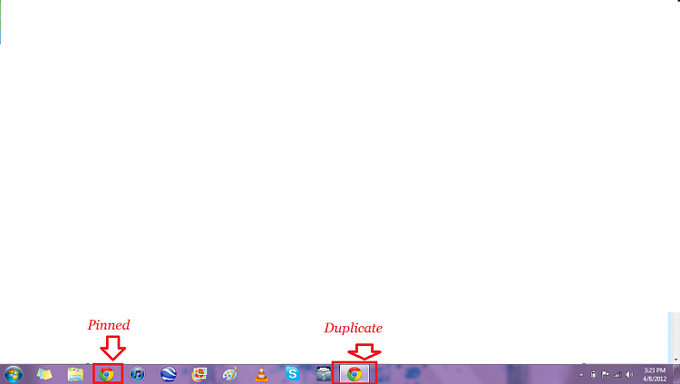 Duplicate Icons On Taskbar.
