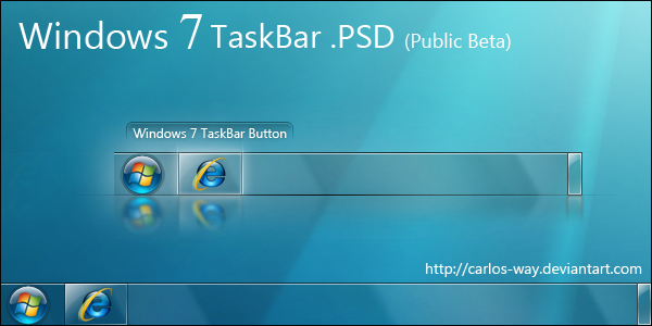 Windows 7 Taskbar .psd by Carlos.