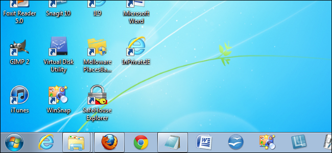 How to Make More Space Available on the Windows 7 Taskbar.