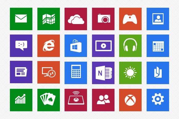 18 Windows 8 Icons.