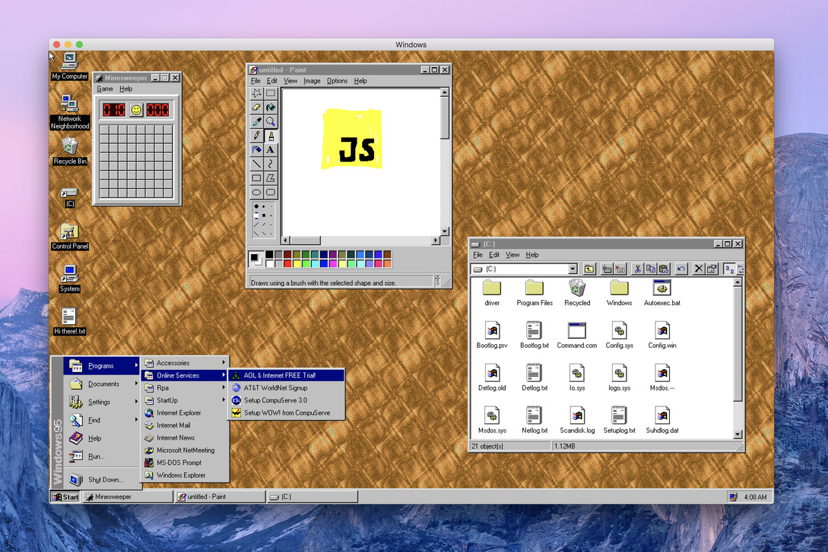 Windows 95 is now an app you can download and install on.