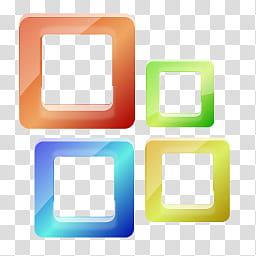 Aero, Microsoft Windows icon art transparent background PNG.