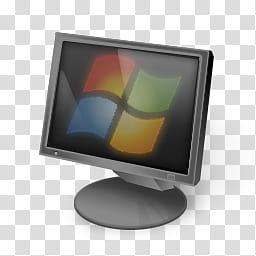 Aero Icons and User, gray Microsoft Windows monitor.