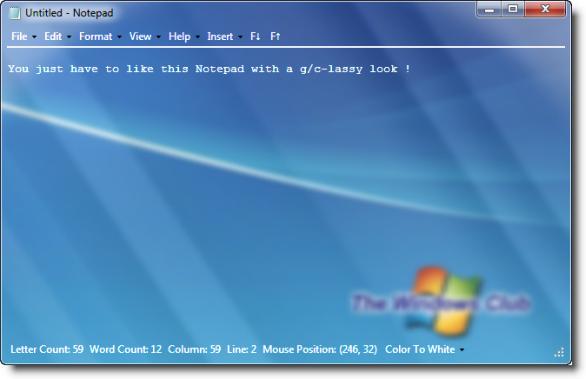 Aero Glass Calculator, CMD, Notepad for Windows 7 & Vista.