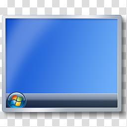 Windows Show Desktop Icon, Desktop, Vista, gray and black.