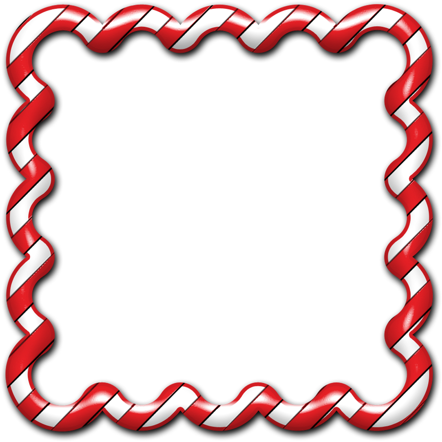 Candy Cane Frame 01 by clipartcotttage.