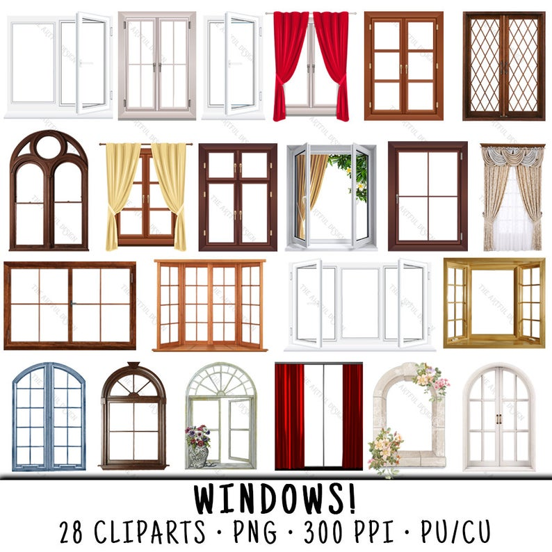 Window Clipart, Windows Clipart, Window Clip Art, Windows Clip Art, Window  PNG, PNG Window, Clipart Window, Clip Art Windows, Windows.