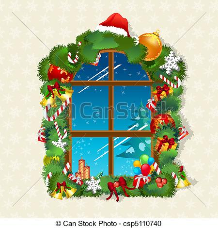 Christmas window Clipart Vector and Illustration. 7,605 Christmas.