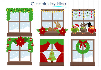 Christmas Windows clipart.