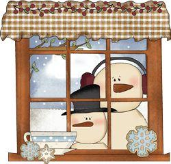 Christmas applique snowman window tea cup & suacer.