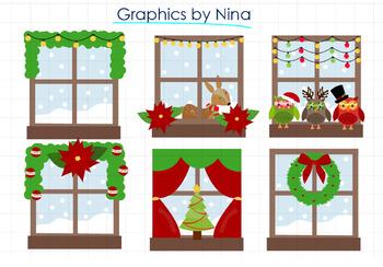 Christmas Windows clipart.