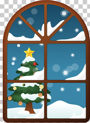 675 Christmas windows PNG cliparts for free download.