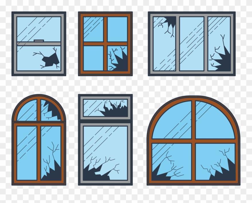 Shatter Broken Windows Theory Clip Art.