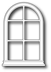 Poppystamps Dies, Small Madison Arched Window.