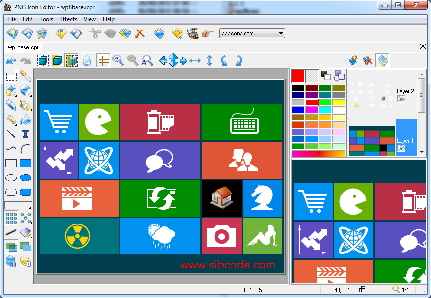 PNG Icon Editor.
