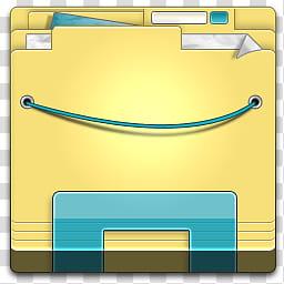 Windows Explorer Icon, Windows Explorer px, yellow folder.