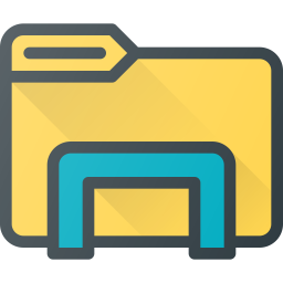 Windows explorer Logo Icon of Colored Outline style.