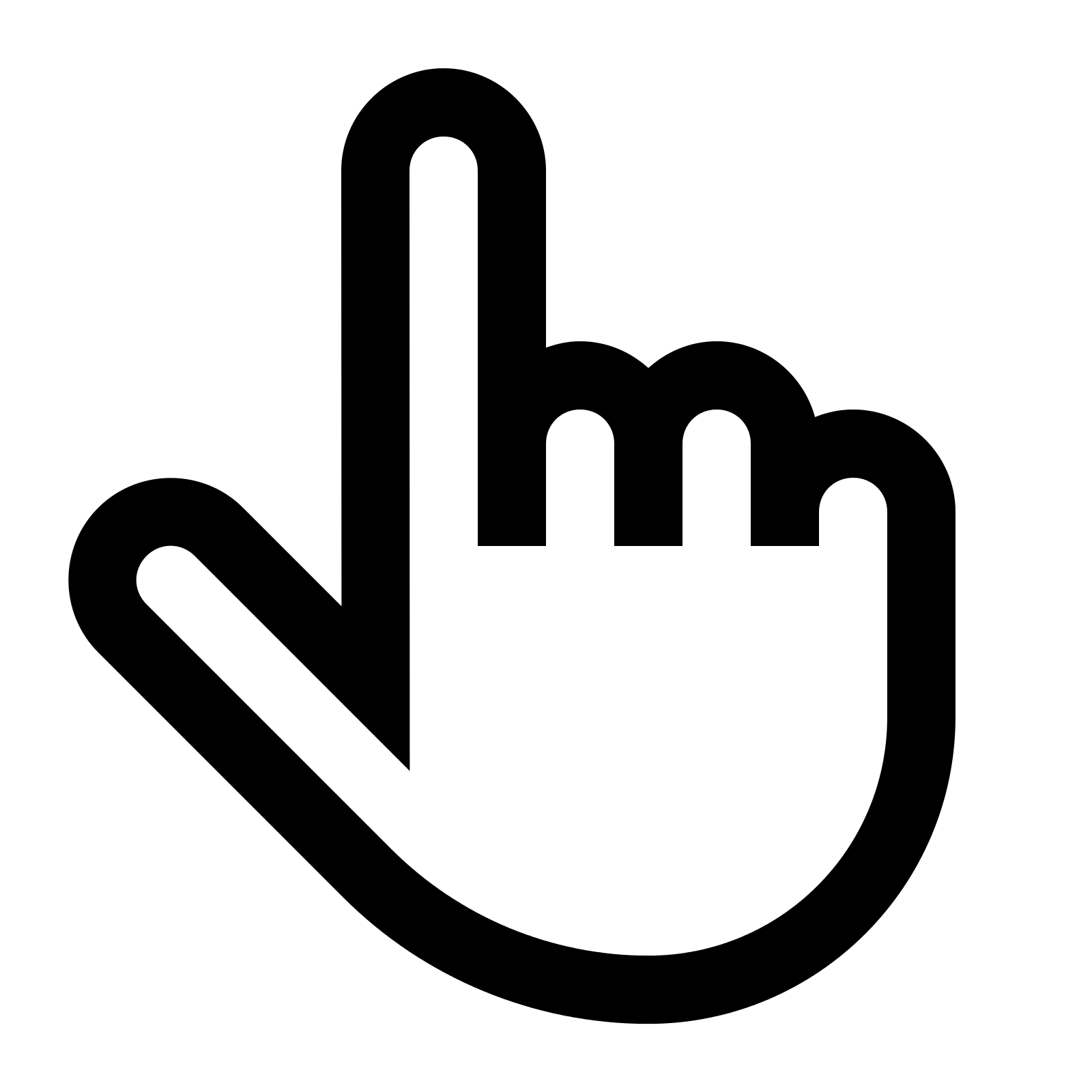 Windows Hand Pointer Icon #131011.