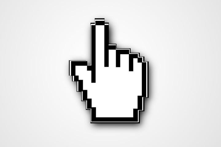 Windows Hand Pointer Icon #130995.