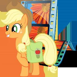 Applejack Windows Live Movie Maker Icon by Shadowhedgiefan91.