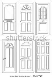 window and door exterior drawing illustration.