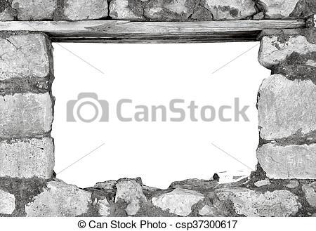 Stock Photography of imaginative rock windows.