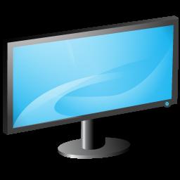 Windows Vista Monitor Icon, PNG ClipArt Image.