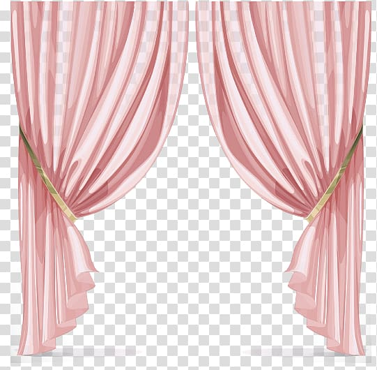 Pink curtain, Window Curtain , Pink curtains transparent.