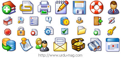 Windows XP Web Application Icons.