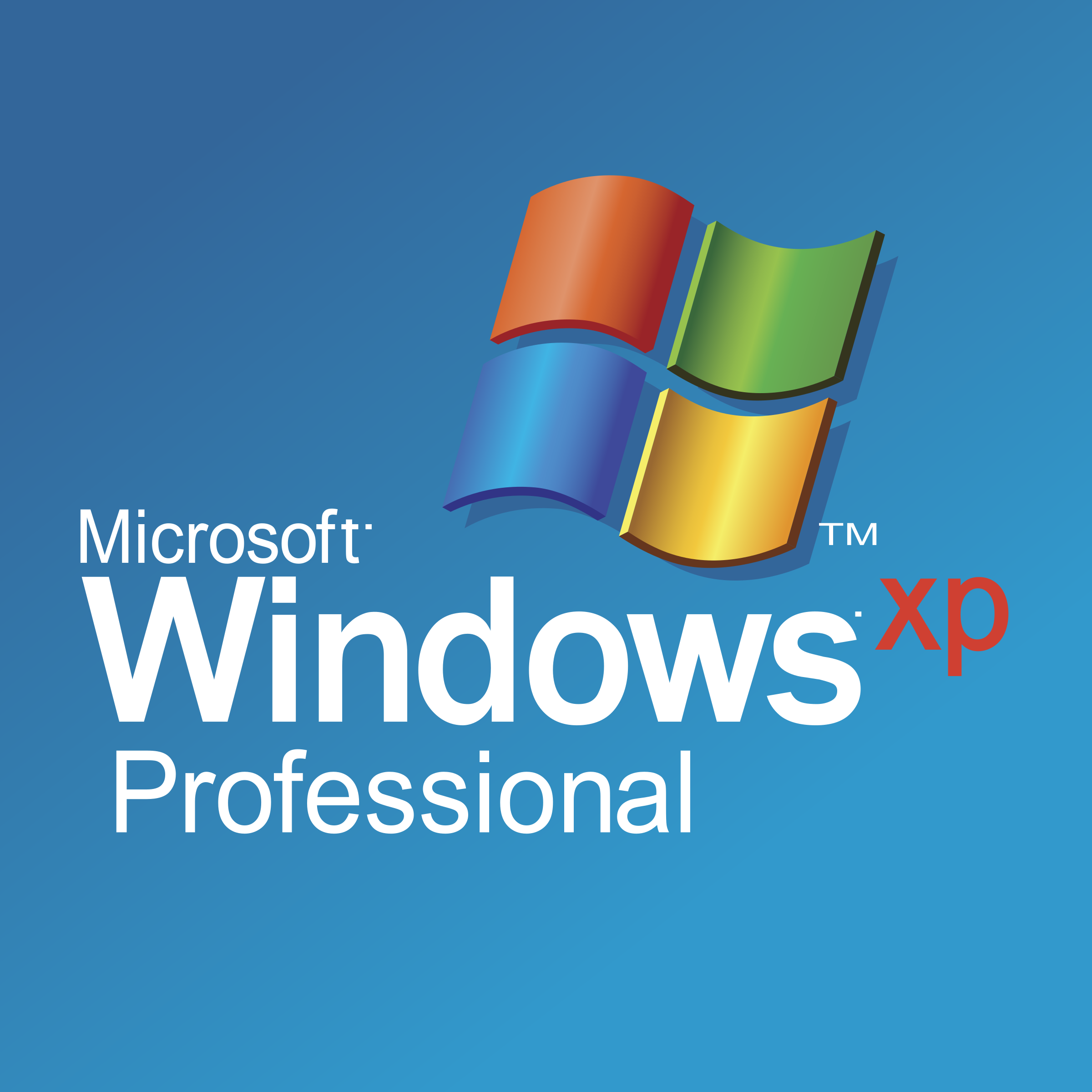 Microsoft Windows XP Professional Logo PNG Transparent & SVG Vector.