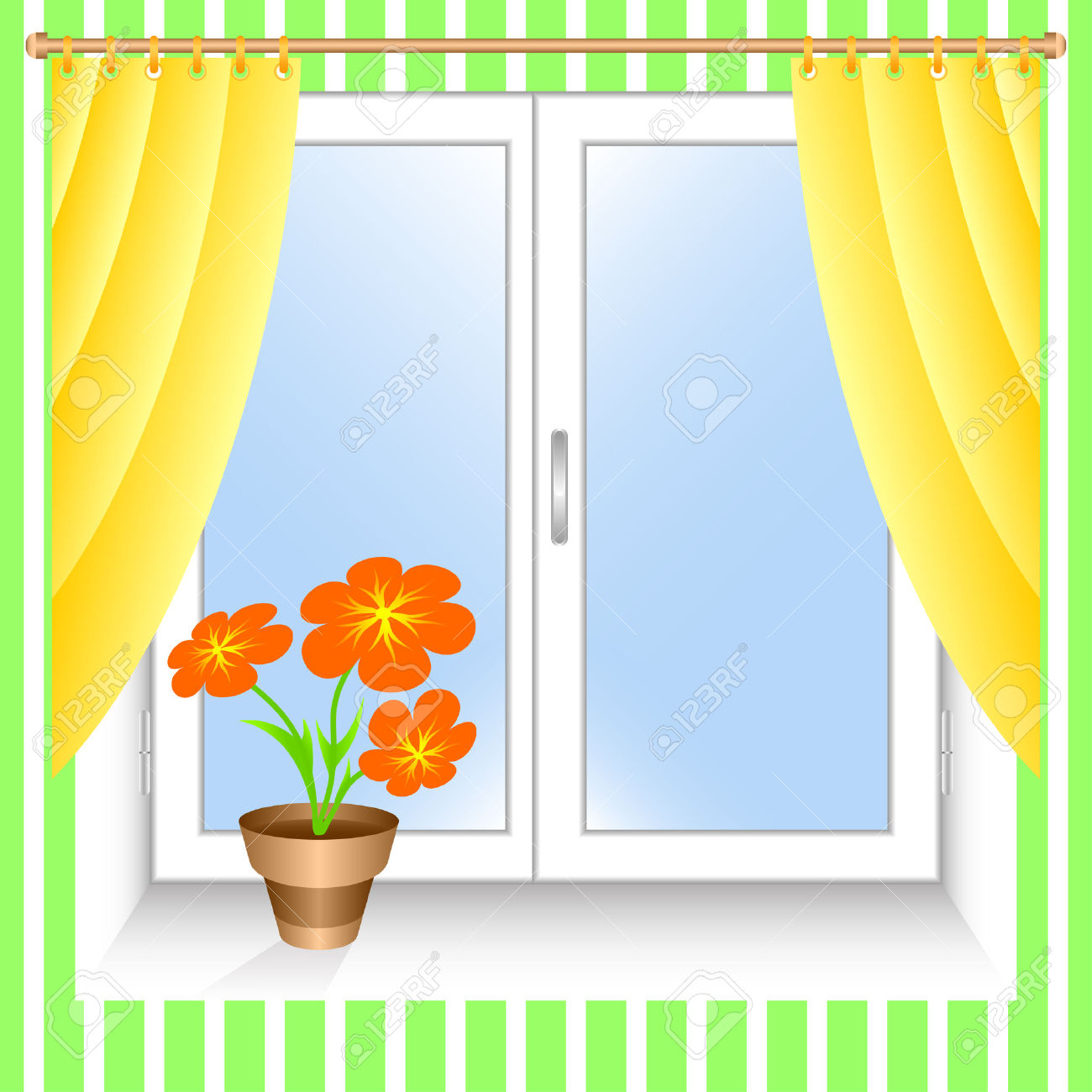 Kitchen Window Clip Art