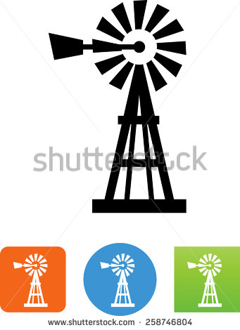 Windmill Silhouette Stock Photos, Royalty.