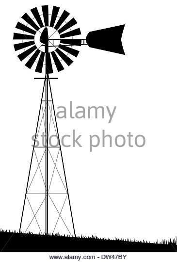 Wind Water Pump Clipart.